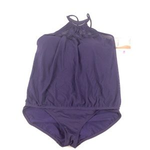 COCO REEF Purple Removable top One Piece Swimsuit